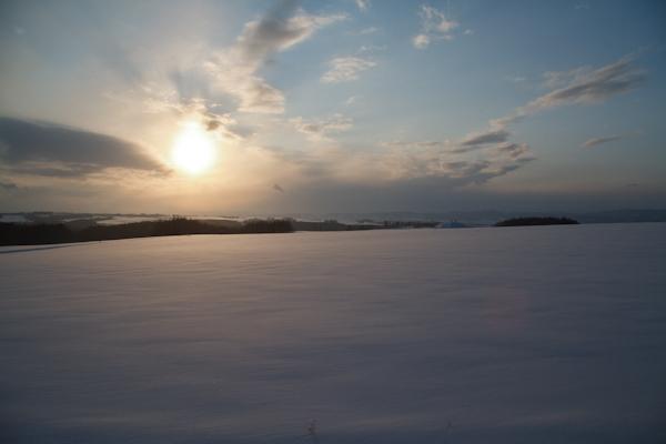 雪雲の去った後