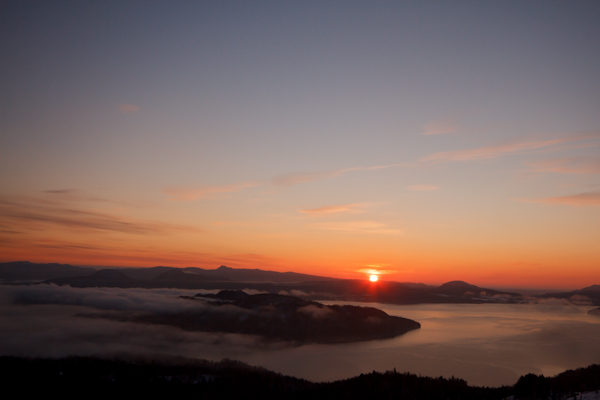 美幌峠からの初日の出