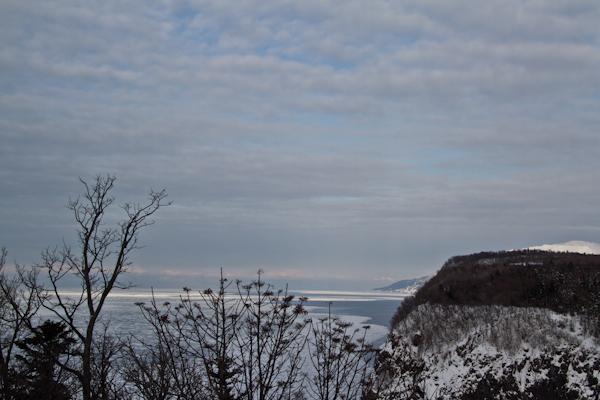 知床先端部、流氷接岸