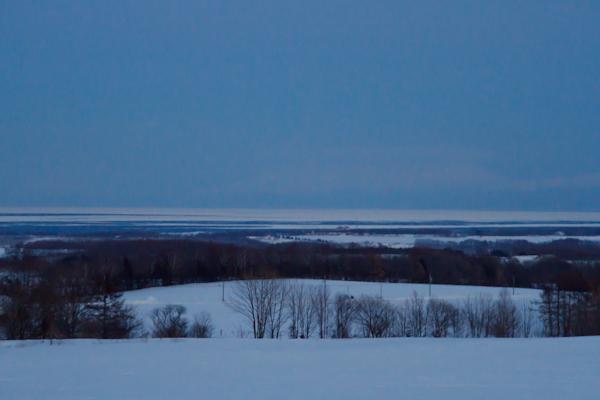 夕方の流氷