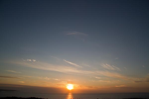 幻日を伴い雲の中へ