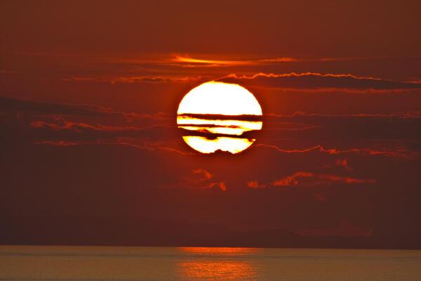 久しぶりの夕陽