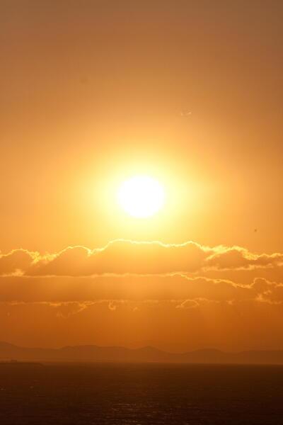 晩夏の夕陽