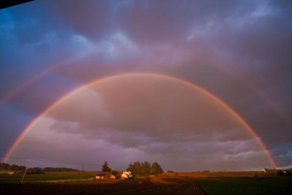 午後5時の虹
