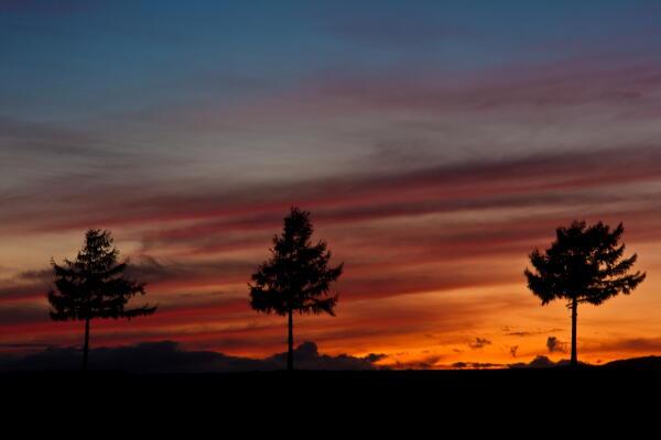 日没後の夕焼け