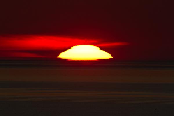 今年2回目の変形太陽