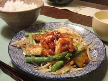 Jan31_鶏と野菜の味噌炒め