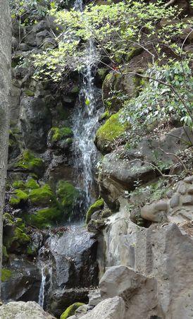 タワーの下にある滝