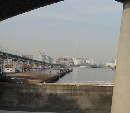 京葉線の下、あけぼの運河付近