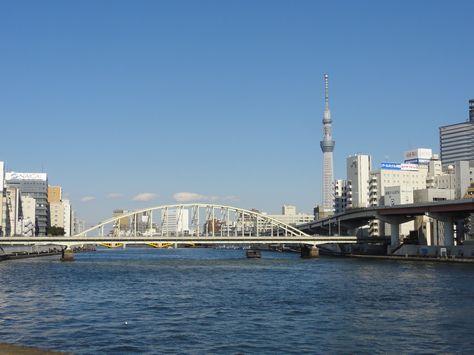 JRの鉄橋付近