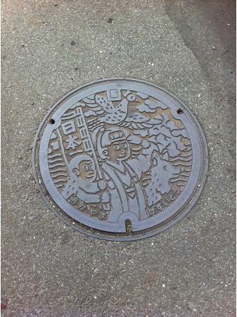 岡山のマンホール