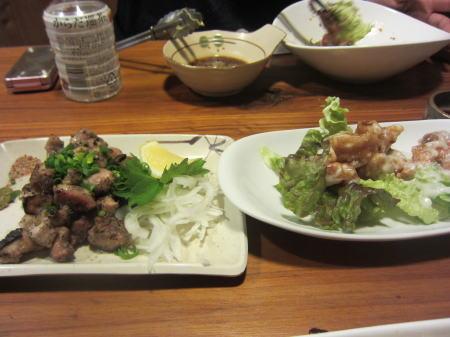 エビマヨと地鶏焼き