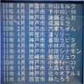 2011年4月下旬のメモリアルプレート