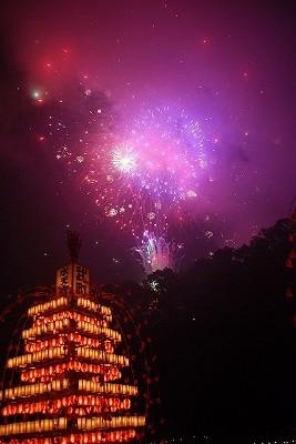 水天宮祭の花火