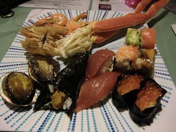 まきてぃ 寿司 蟹 あわび 海老 うに