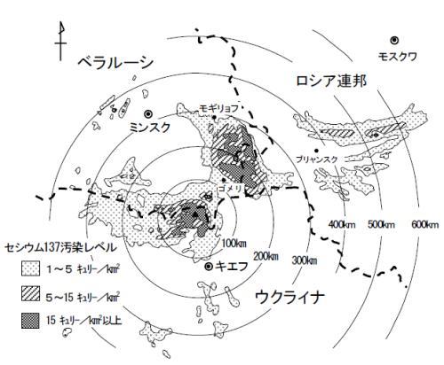チェ_セシウム137汚染地域の地図_縮小版01