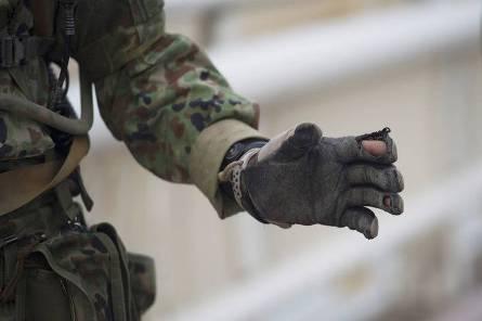 JGSDF ripped glove