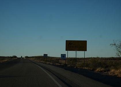 ニューメキシコとテキサスの州境