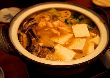 白味噌風味のチーズ鍋