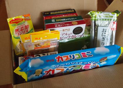 日本からの小包