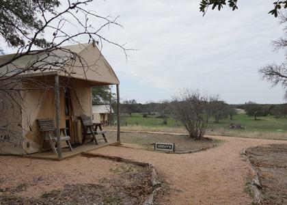 アフリカ風のテント
