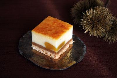栗とカスタード入り☆チーズケーキ
