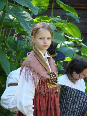 en lettisk flicka