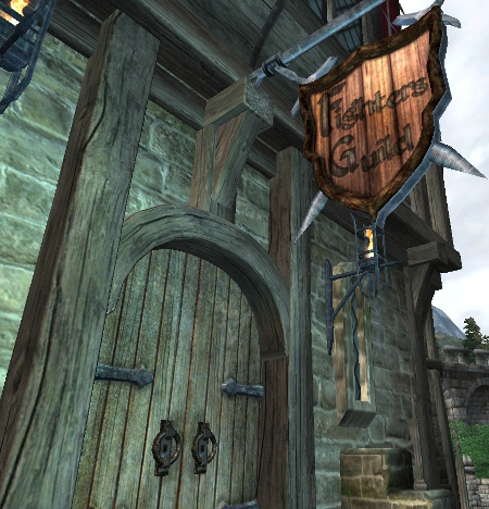 戦士ギルド玄関口
