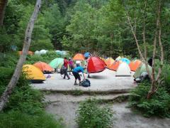 鳳凰小屋のテント場