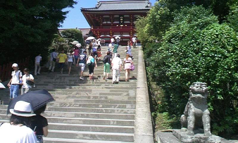 鶴岡八幡宮 本宮前・大石段