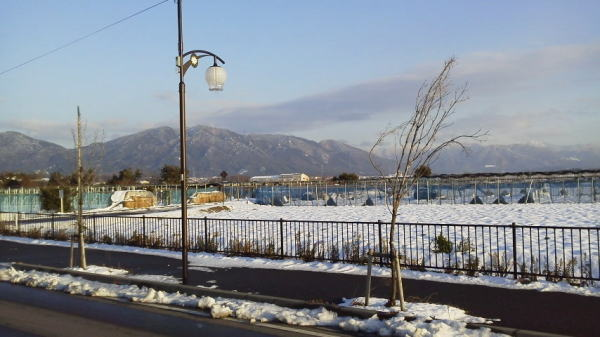 雪景色に ・・・