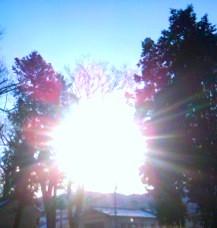 1月8日武水分神社太陽
