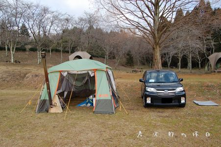 テントの乾燥中2