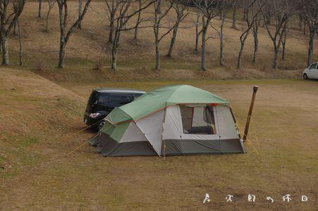 テントの乾燥中
