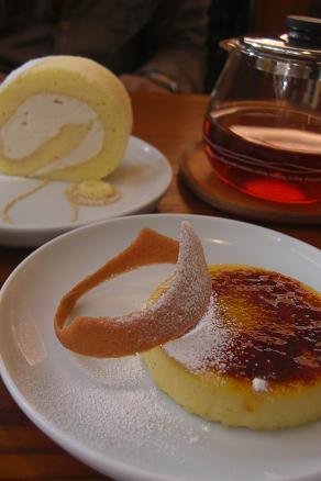 タロールとサツマイモのブリュレ