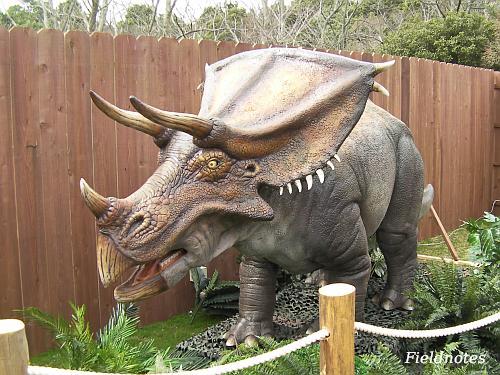 トリケラトプスじゃなくてカスモサウルス[みさき公園「恐竜動物園」]