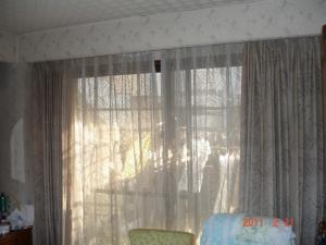 ダイニングルームの既存のカーテン