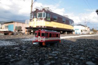 岳南富士岡にて ED403実車とプラレールのコラボ