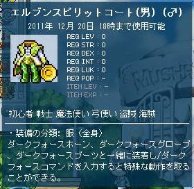 装備・エルブンスピリットコート(男)(♂)
