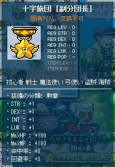 装備・十字旅団[副分団長]