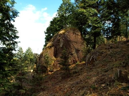 第二展望地付近の巨石P3253262