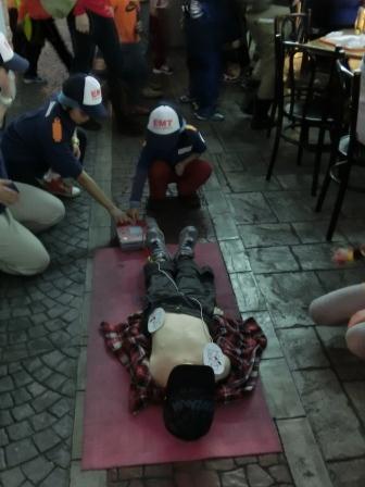 キッザニア再び AEDスイッチオン!