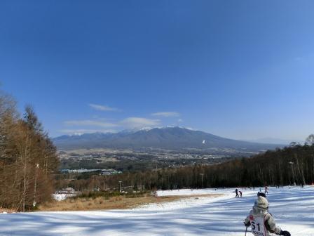 スキーに行きました 富士見パノラマスキー場