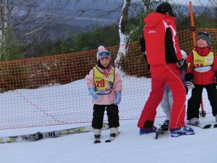 スキーに行きました 我が家のお姉ちゃんもレッスン