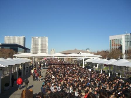 2011東京モーターショー なんちゅう混雑