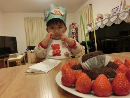 弟くんの2歳の誕生日