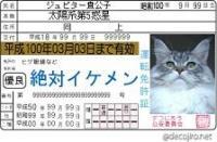 遊子三から頂いた免許証70