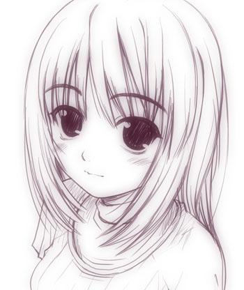 ラクガキ少女01b