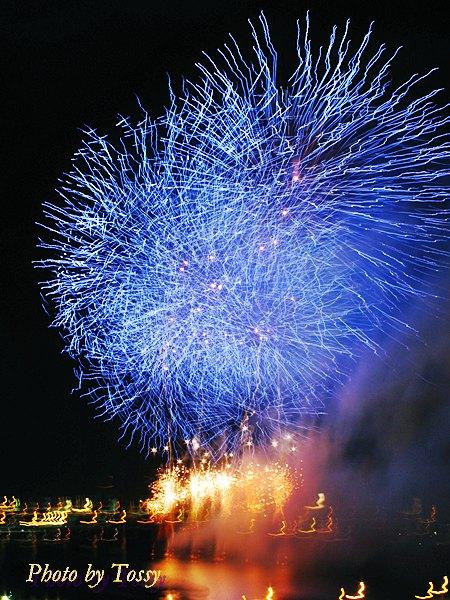 G10で写した青い花火
