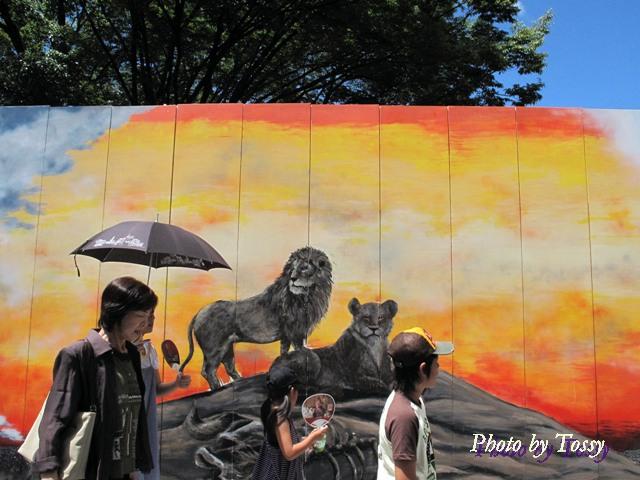動物園の塀の絵